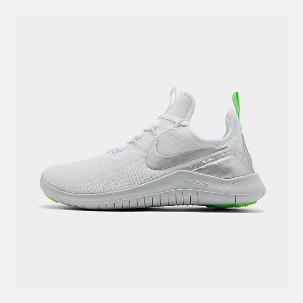 Right view of Women's Nike Free TR 8 Training Shoes in White/Metallic Silver/Pure Platinum
