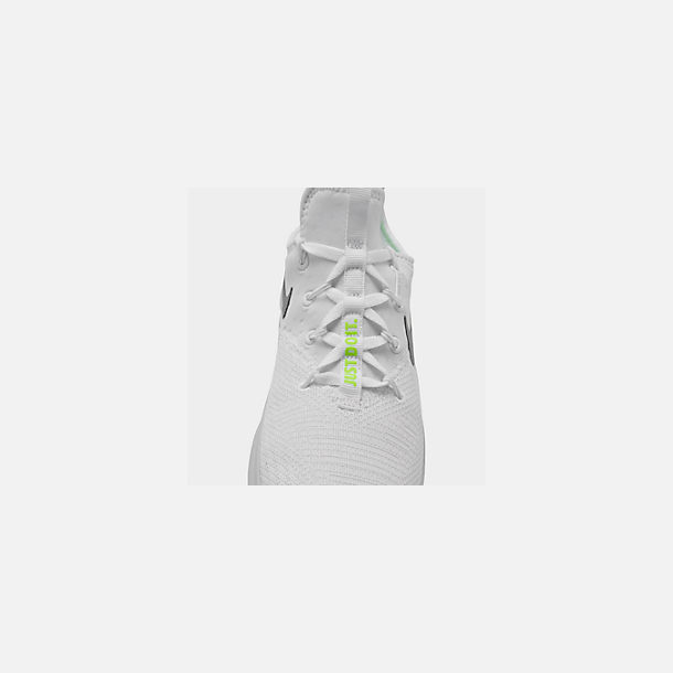 Front view of Women's Nike Free TR 8 Training Shoes in White/Metallic Silver/Pure Platinum