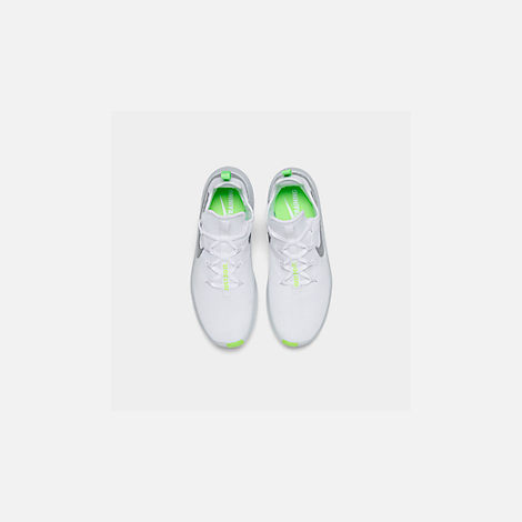 Back view of Women's Nike Free TR 8 Training Shoes in White/Metallic Silver/Pure Platinum