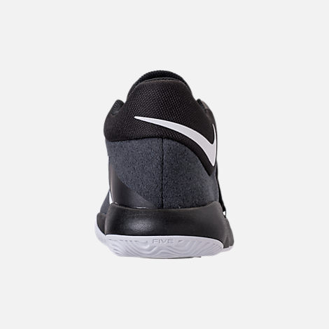 Back view of Boys' Grade School Nike KD Trey 5 V Basketball Shoes in Black/White