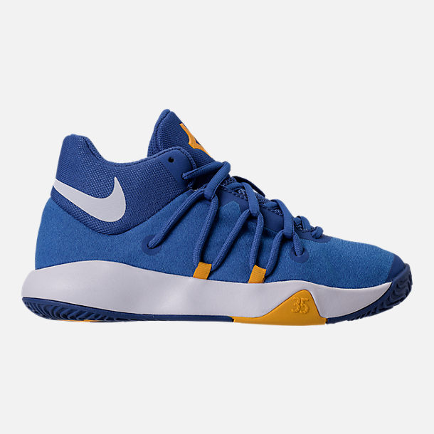 Right view of Boys' Grade School Nike KD Trey 5 V Basketball Shoes in Royal Blue/White/University Gold
