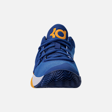 Front view of Boys' Grade School Nike KD Trey 5 V Basketball Shoes in Royal Blue/White/University Gold