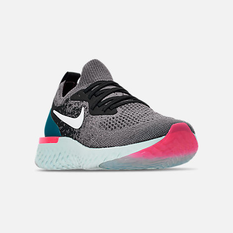 e515b699441b3 Three Quarter view of Big Kids  Nike Epic React Flyknit Running Shoes