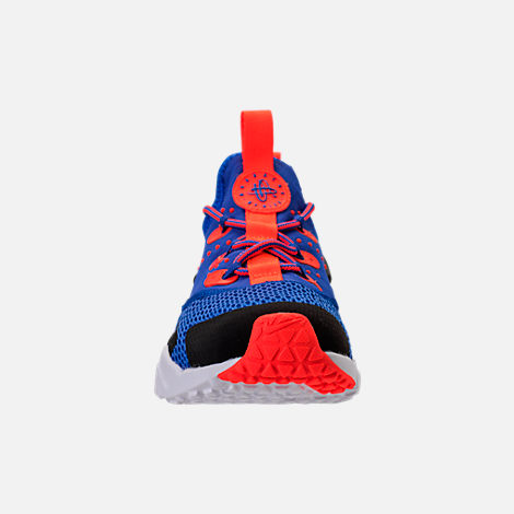 Front view of Boys' Big Kids' Nike Huarache Drift Casual Shoes in Racer Blue/Black/Total Crimson