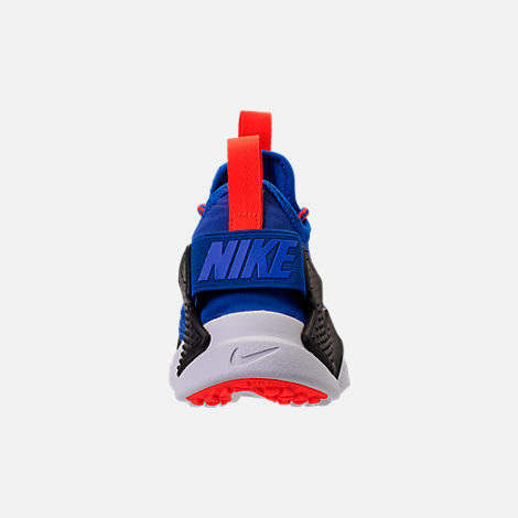 Back view of Boys' Big Kids' Nike Huarache Drift Casual Shoes in Racer Blue/Black/Total Crimson