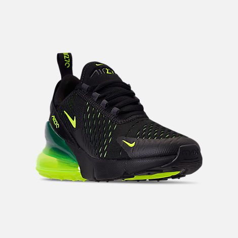 45ff752eb8e Three Quarter view of Big Kids' Nike Air Max 270 Casual Shoes in Black/