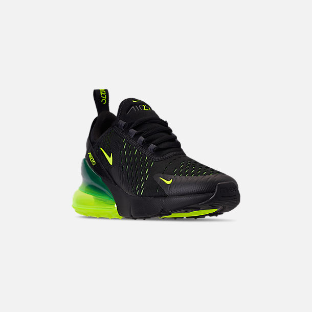 best service b41c2 bcf5c Three Quarter view of Big Kids  Nike Air Max 270 Casual Shoes in Black