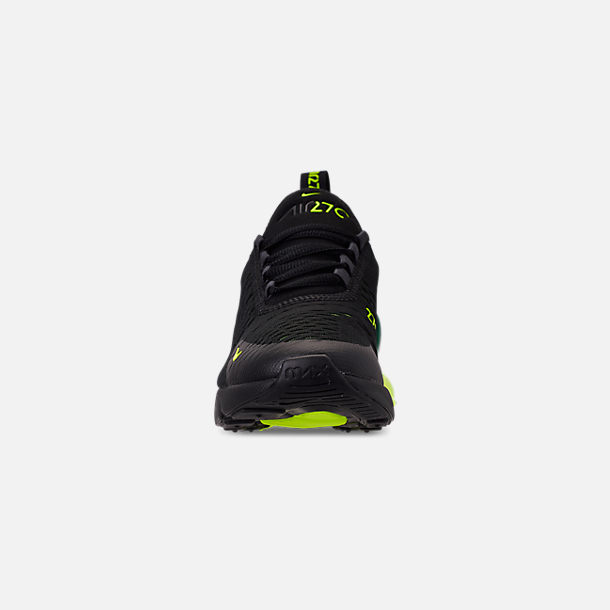 reputable site 41c09 92775 Front view of Big Kids  Nike Air Max 270 Casual Shoes in Black Volt