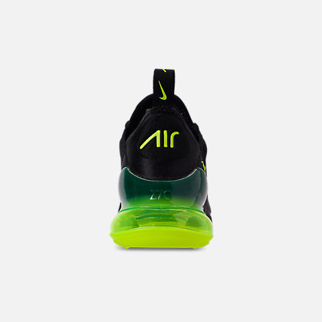 f8d8e6d309cfdc Back view of Big Kids  Nike Air Max 270 Casual Shoes in Black Volt