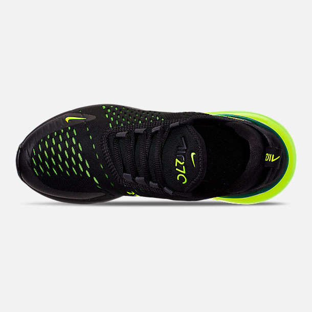 hot sale online 274c7 7c544 Top view of Big Kids  Nike Air Max 270 Casual Shoes in Black Volt