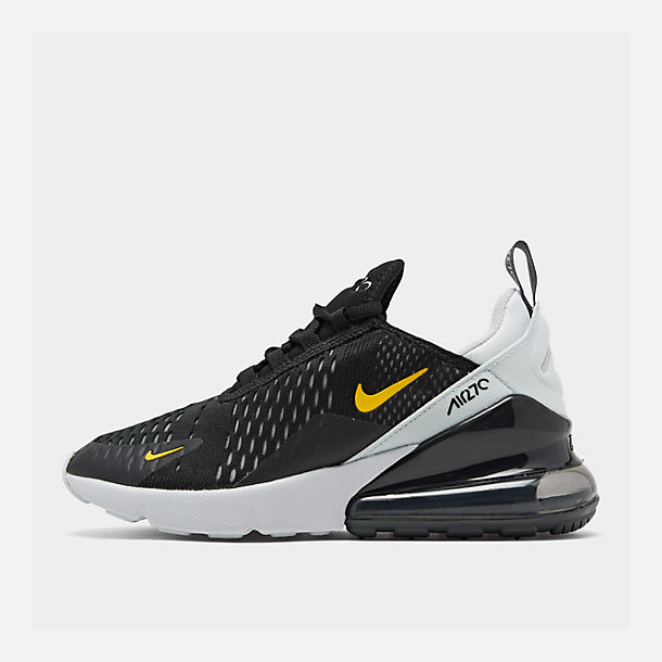 Right view of Big Kids' Nike Air Max 270 Casual Shoes in Black/Amarillo/Pure Platinum/Anthracite