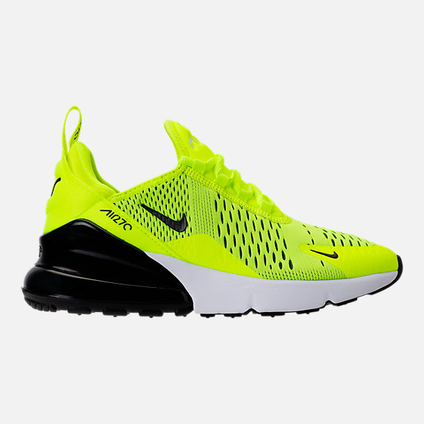 Right view of Kids' Grade School Nike Air Max 270 Casual Shoes in Volt/Black/Dark Grey/White