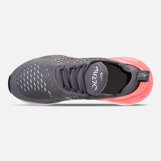 Top view of Kids' Grade School Nike Air Max 270 Casual Shoes in Gunsmoke/Atomic Pink
