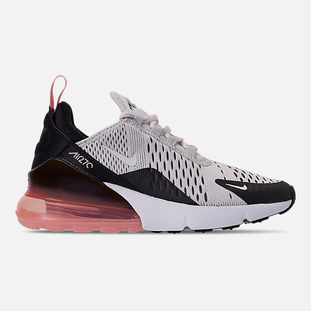 fe08e33ecc Right view of Girls' Big Kids' Nike Air Max 270 Casual Shoes in Platinum