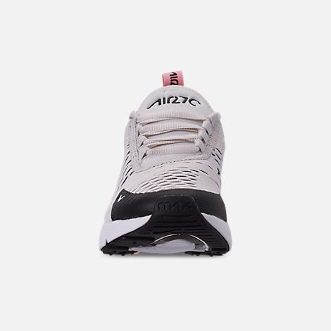 8ccfa416 Front view of Girls' Big Kids' Nike Air Max 270 Casual Shoes in Platinum