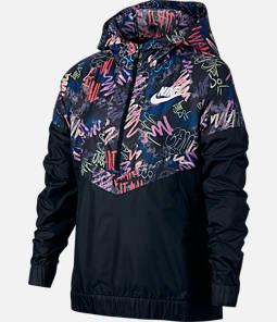 Girls' Nike Sportswear Allover Print Windrunner Jacket
