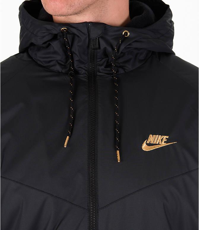 76fdfdb8b5dc ... Detail 1 view of Men s Nike Sportswear Reflective Windrunner Jacket in Black  Gold ...