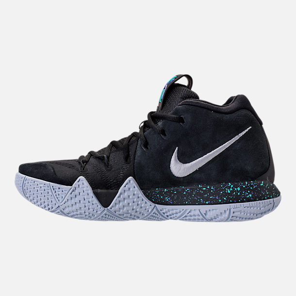 Left view of Men's Nike Kyrie 4 Basketball Shoes in Black/White/Anthracite