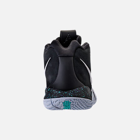Back view of Men's Nike Kyrie 4 Basketball Shoes in Black/White/Anthracite
