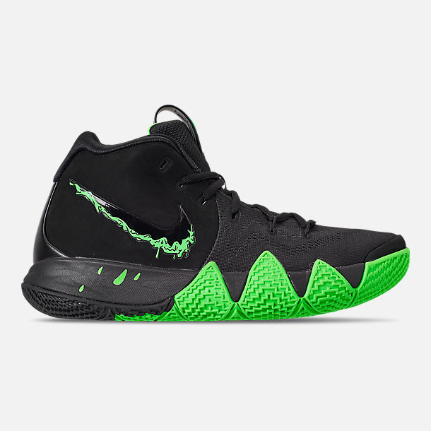 Right view of Mens Nike Kyrie 4 Basketball Shoes in BlackRage Green