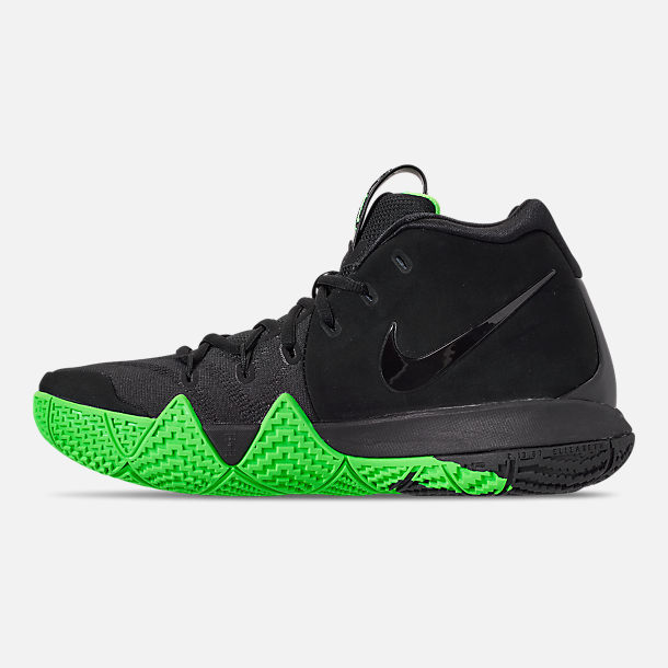 67d6cdd2ecc ... hot left view of mens nike kyrie 4 basketball shoes in black rage green  66cff d7d83