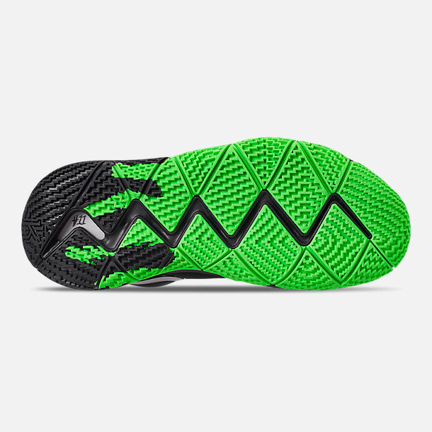 c59a7e615cca ... france bottom view of mens nike kyrie 4 basketball shoes in black rage  green c387d 9e16b
