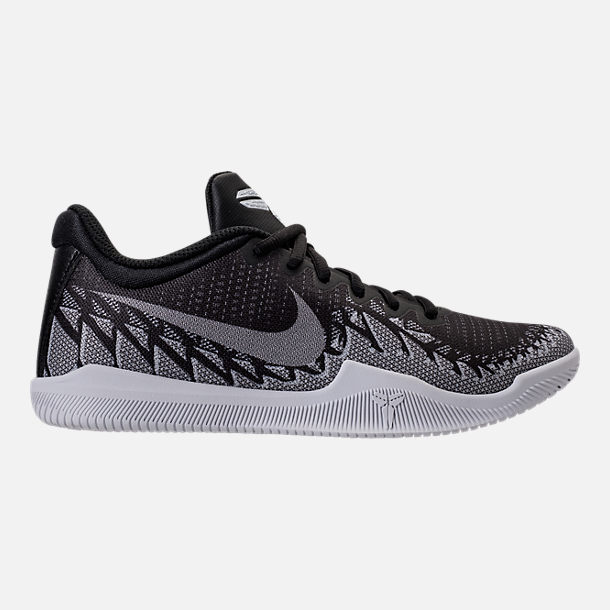Right view of Boys' Grade School Nike Kobe Mamba Rage Basketball Shoes in Anthracite/White/Black