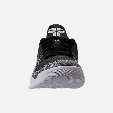 Front view of Boys' Grade School Nike Kobe Mamba Rage Basketball Shoes in Anthracite/White/Black