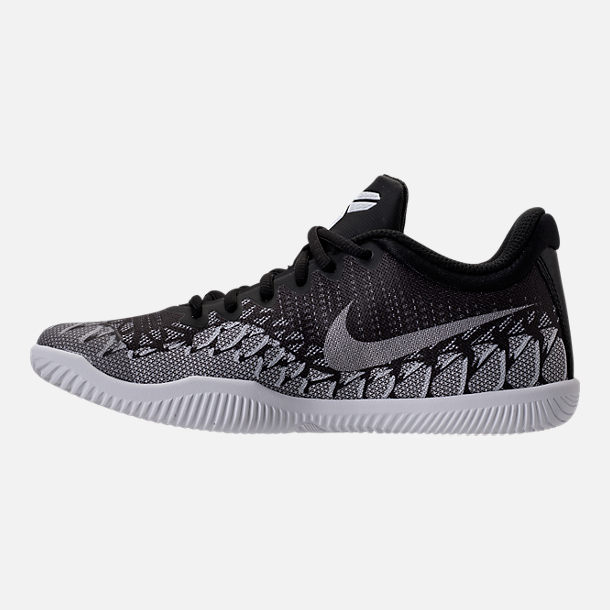 Left view of Boys' Grade School Nike Kobe Mamba Rage Basketball Shoes in Anthracite/White/Black