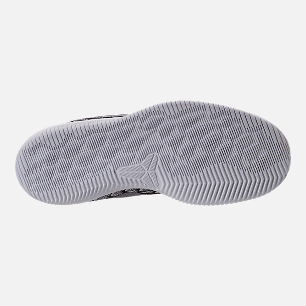 Bottom view of Boys' Grade School Nike Kobe Mamba Rage Basketball Shoes in Anthracite/White/Black