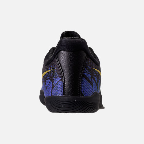 Back view of Boys' Grade School Nike Kobe Mamba Rage Basketball Shoes in Black/Tour Yellow/Court Purple