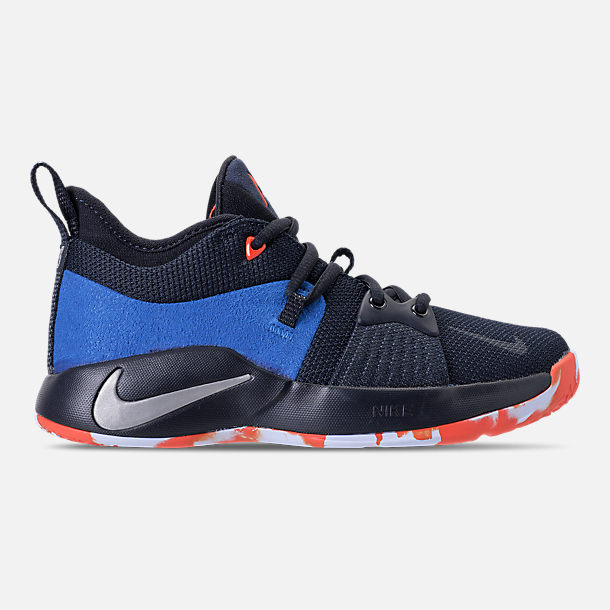 Right view of Kids' Grade School Nike PG 2 Basketball Shoes in Dark  Obsidian/