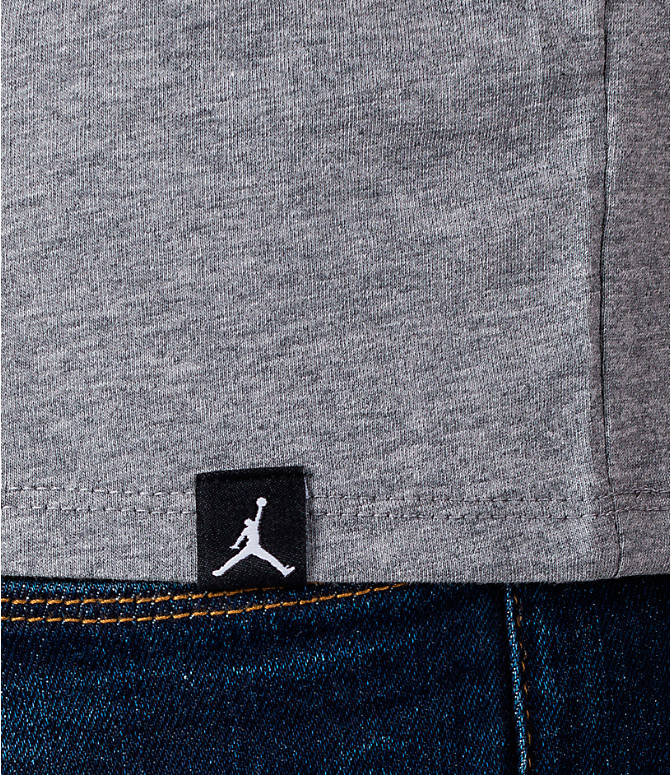 Detail 2 view of Men's Air Jordan 3 Do You Know T-Shirt in Heather Grey/Red