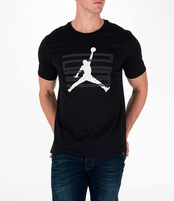 Detail 1 view of Men's Air Jordan 11 Jumpman T-Shirt in Black/White