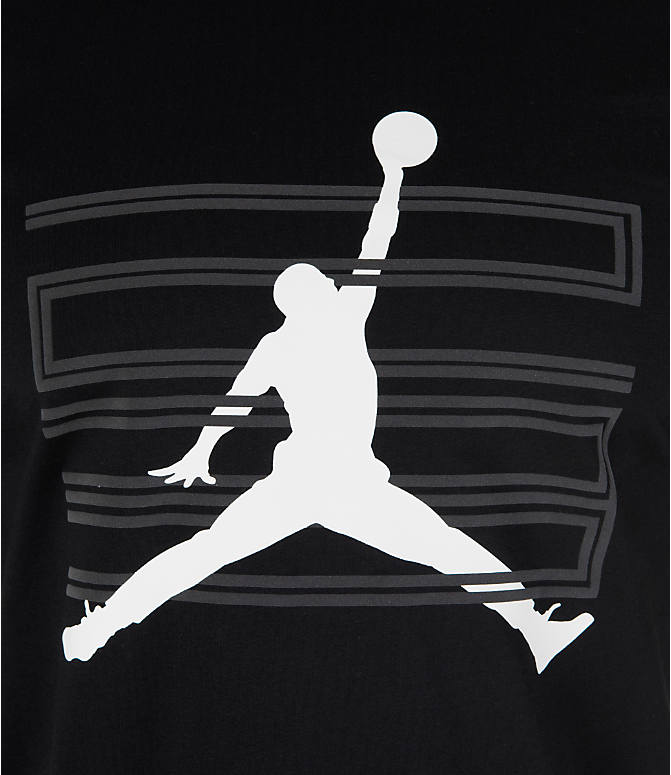 Detail 2 view of Men's Air Jordan 11 Jumpman T-Shirt in Black/White