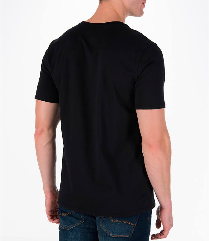 Back Right view of Men's Air Jordan 11 Jumpman T-Shirt in Black/White