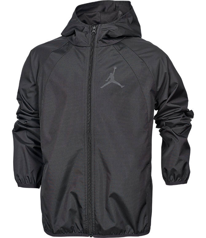 Front view of Boys' Jordan Packable Windbreaker in Black