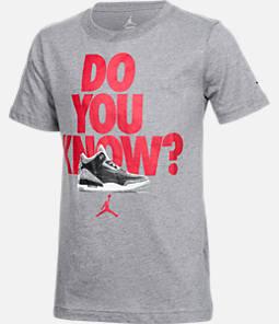 Boys' Air Jordan Retro 3 Hook T-Shirt