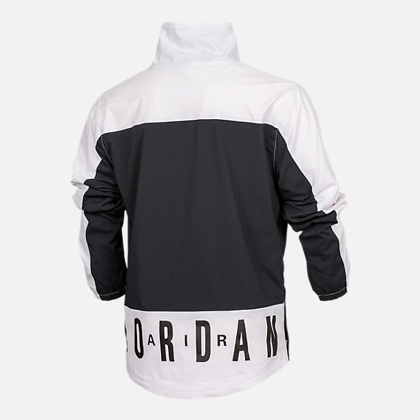 Back view of Boys' Air Jordan '90s Anorak Jacket in Black/White