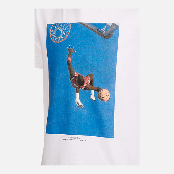 Back view of Boys' Jordan Dunk Photo T-Shirt in White
