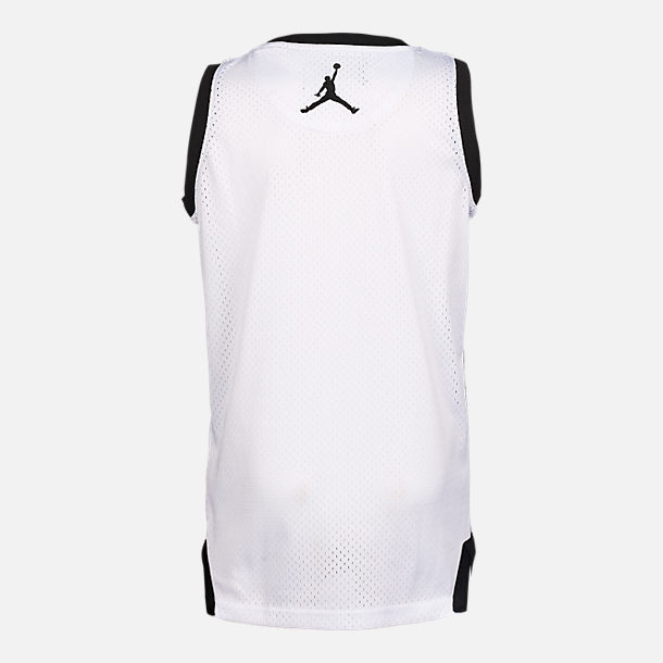 Back view of Boys' Jordan 23 Split Jersey in Black/White