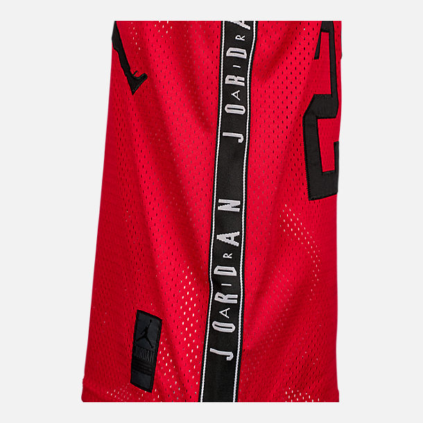 Back view of Boys' Air Jordan Rise 23 Jersey in Red/Black