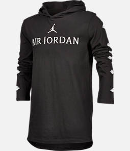 Boys' Air Jordan Wings Long-Sleeve Hooded T-Shirt