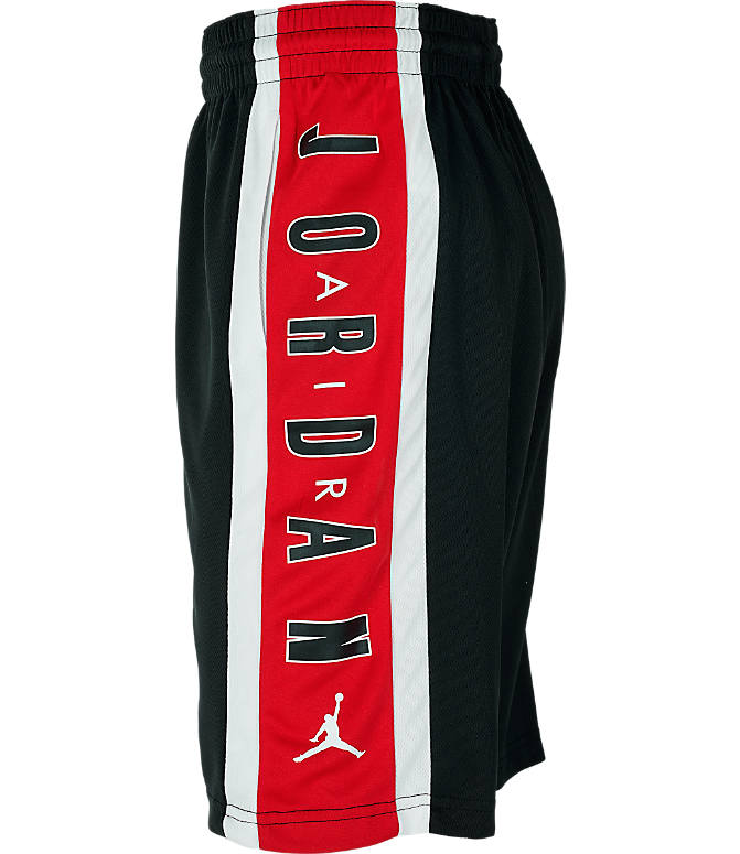 Product 3 view of Boys' Jordan Rise 3 Shorts in Black/Gym Red