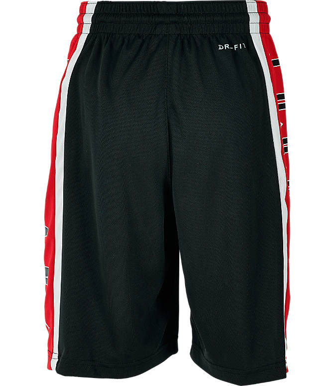 Product 4 view of Boys' Jordan Rise 3 Shorts in Black/Gym Red
