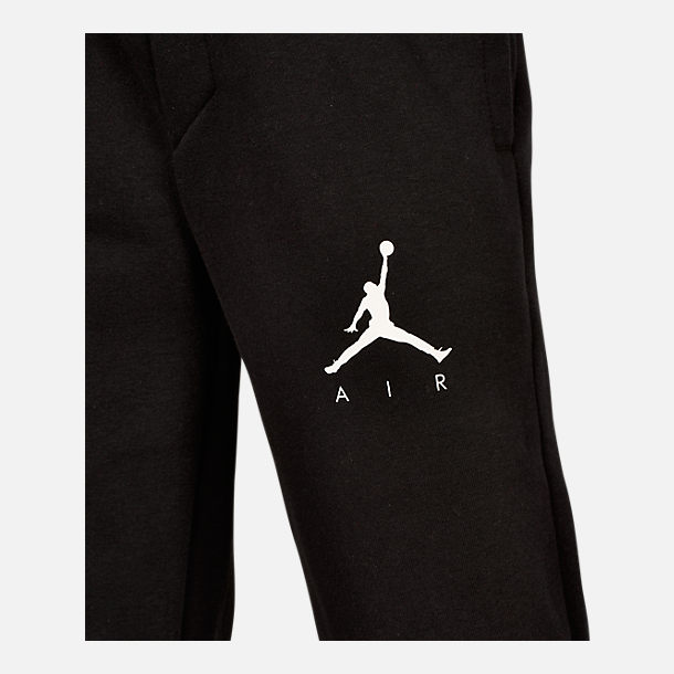 Back view of Boys' Air Jordan Jumpman Fleece Sweatpants in Black