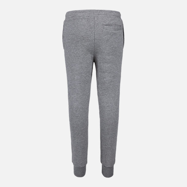 Back view of Boys' Jordan Jumpman Fleece Jogger Pants in Carbon Heather