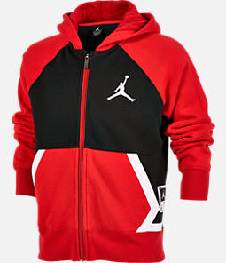 2ff33907df941f Boys  Jordan Diamond Fleece Full-Zip Hoodie