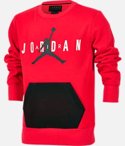 a63cbf4ecf5e Boys  Air Jordan Jumpman Fleece Crewneck Sweatshirt