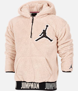 Boys' Jordan Say Word Sherpa Full-Zip Hoodie